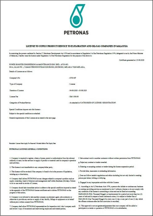 PETRONAS (FABRICATION & MAINTENANCE SERVICES)